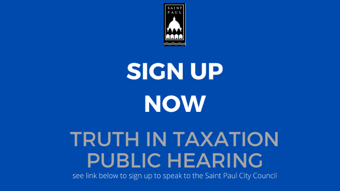 Truth In Taxation Sign Up for Public Hearing