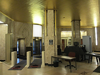 security area in city hall arrive early