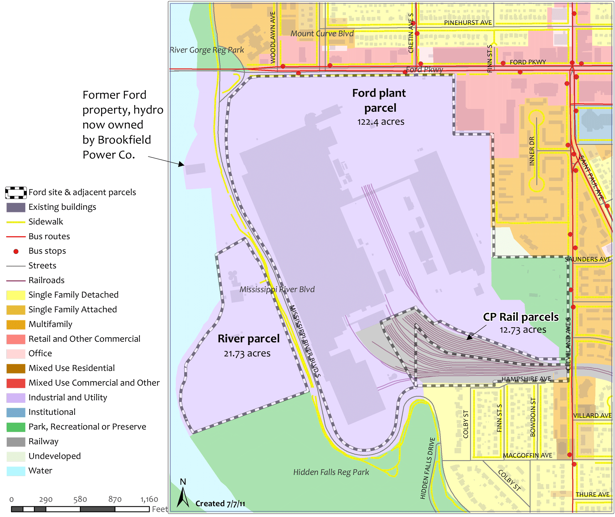 Ford Site Properties Map