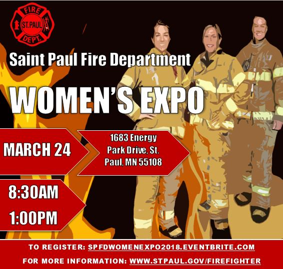 Saint Paul Fire Department Women's Expo on March 24, 2018