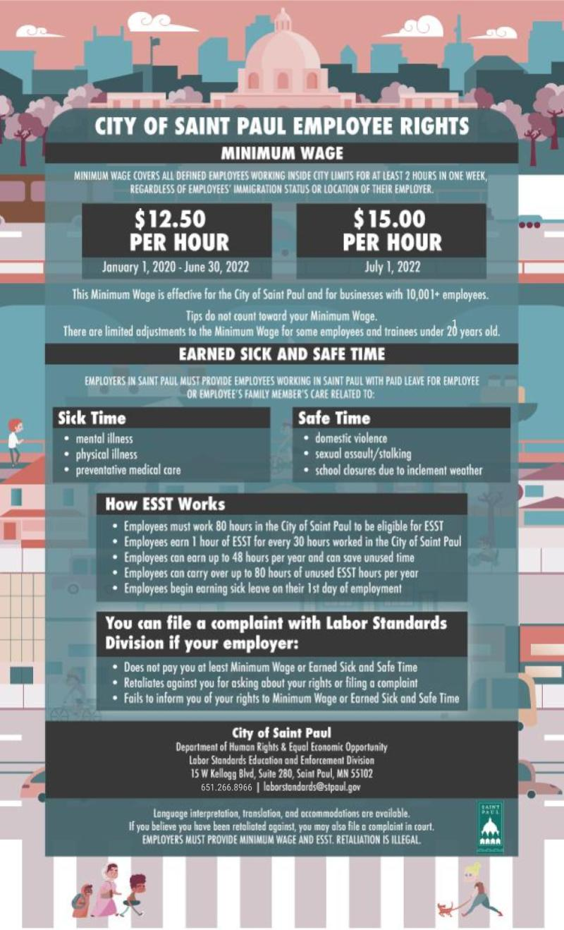 Minimum Wage and ESST Notice Poster_English