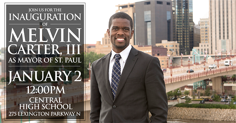 Join us for the inauguration of melvin carter, II as mayor of st. paul