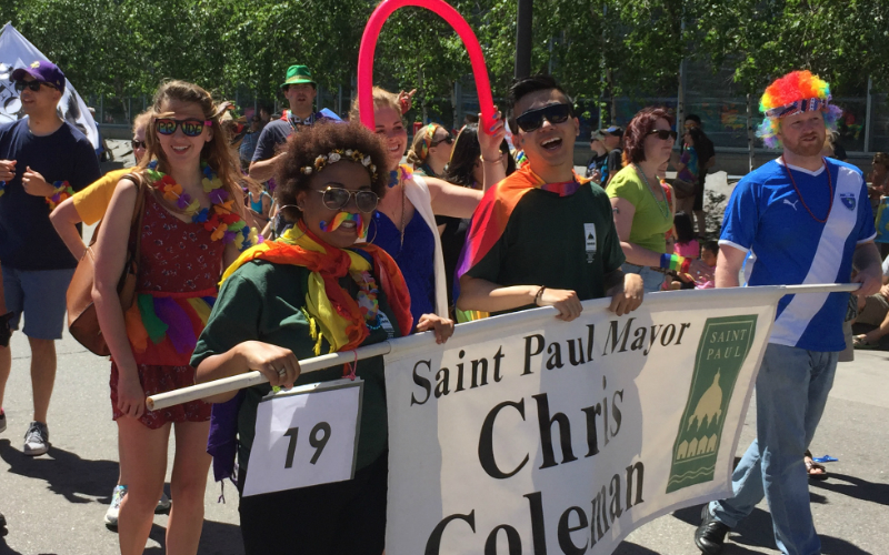 Mayoral Interns at Pride Parade
