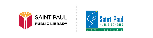 Saint Paul Public Library and Saint Paul Public Schools logos