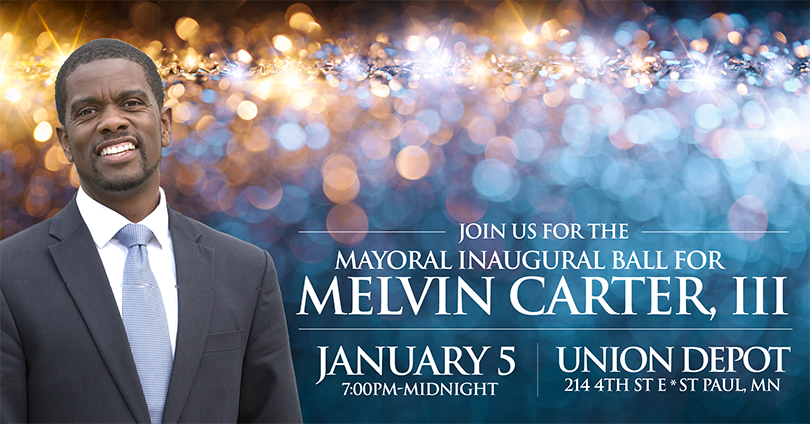 Join us for the mayoral inaugural ball for melvin carter, III