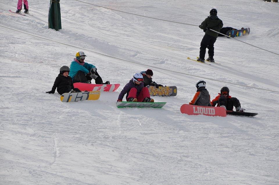 Snowboarders at Como Park Ski Center