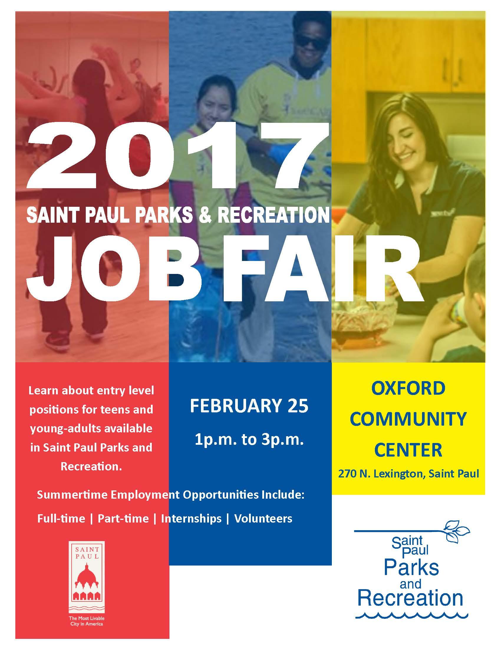 Saint Paul Parks and Recreation 2017 Job Fair