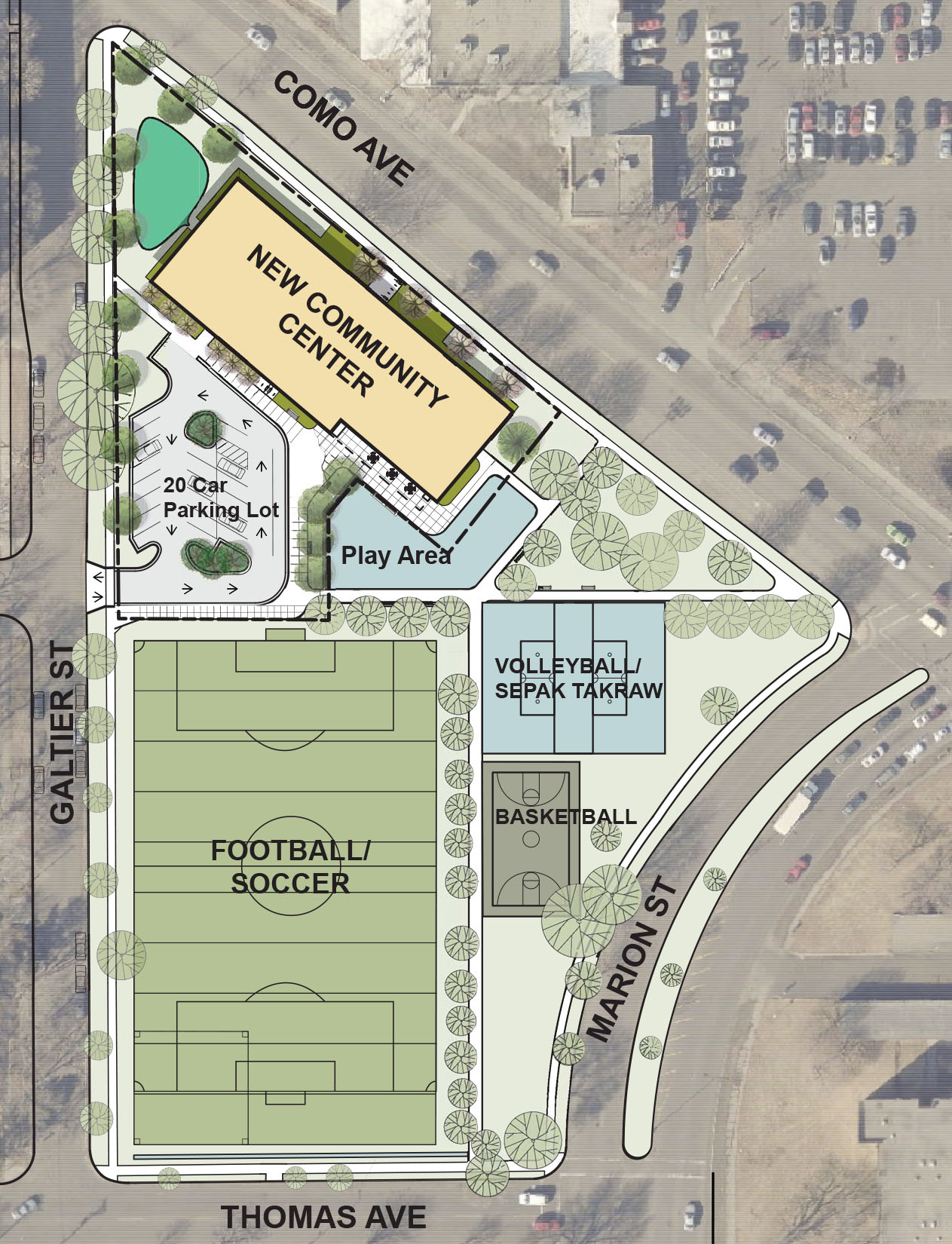 Frogtown Community Center Site Plan