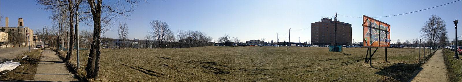 Panorama of Midway Peace Park (before construction)