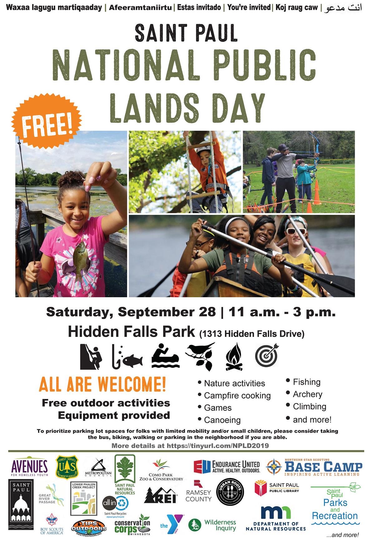 National Public Lands Day 2019 flyer