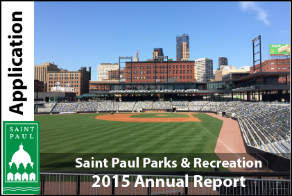 Graphic that accesses the 2015 Parks and Recreation annual report