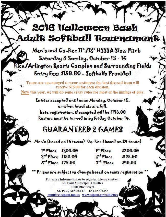 halloween softball bash