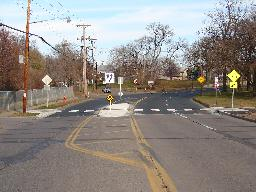 Traffic Calming example - Pedestrian Refuge