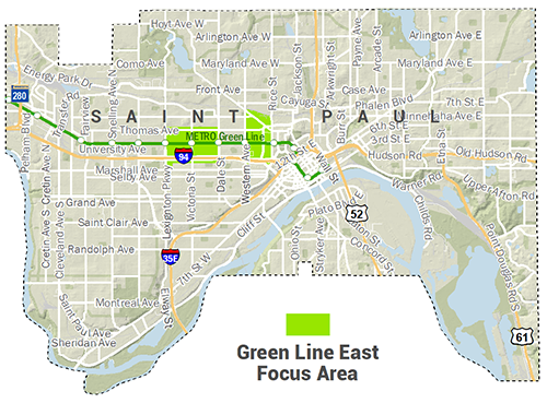 Green Line East Inset Map
