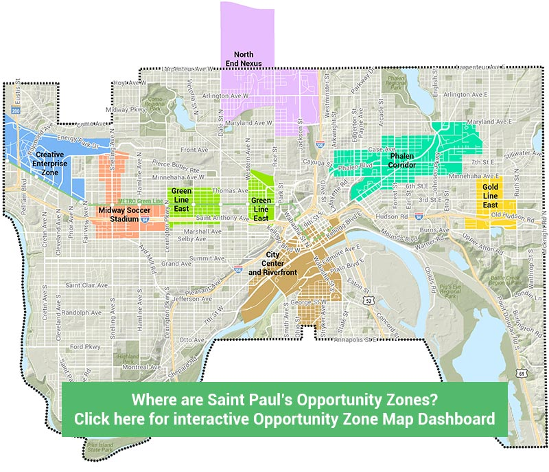 Where Are Saint Paul's Opportunity Zones? Click for an Interactive Map Dashboard