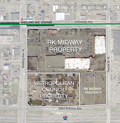 Snelling-Midway redevelopment site map