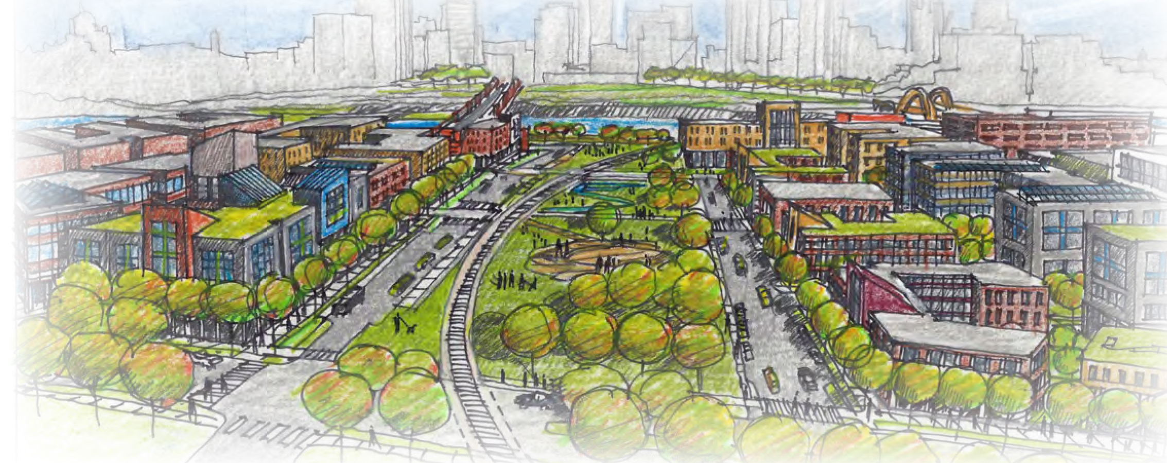 West Side Flats greenway rendering