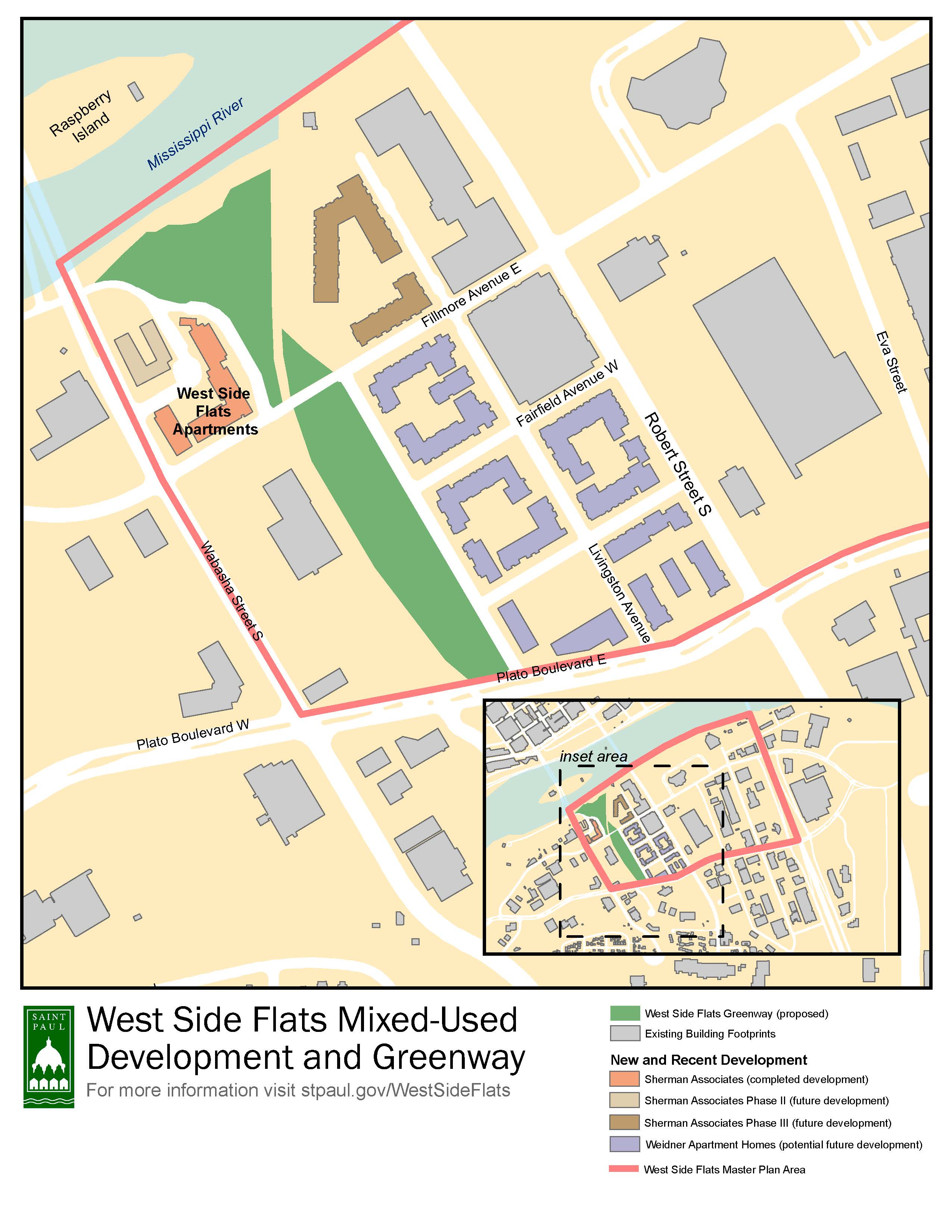 West Side Flats map