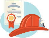 fire fighter hat with certificate