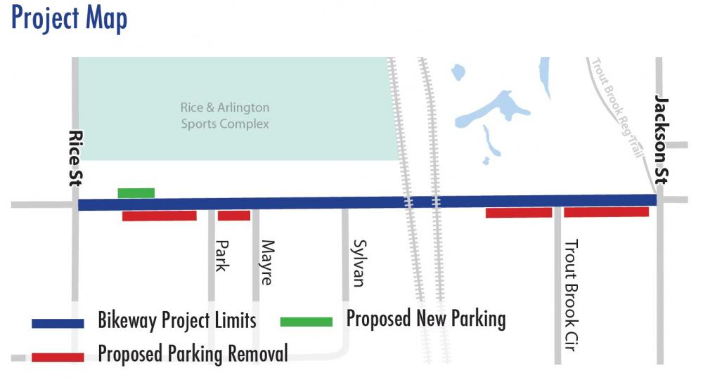 Arlington Ave project map
