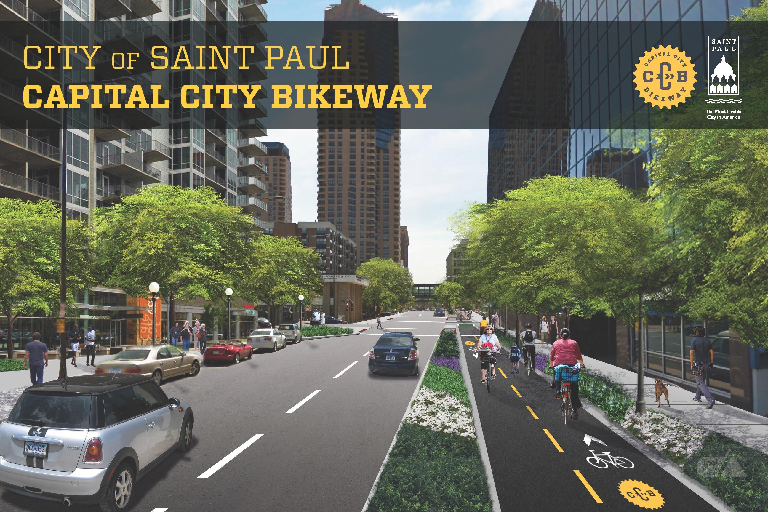 Capital City Bikeway Rendering