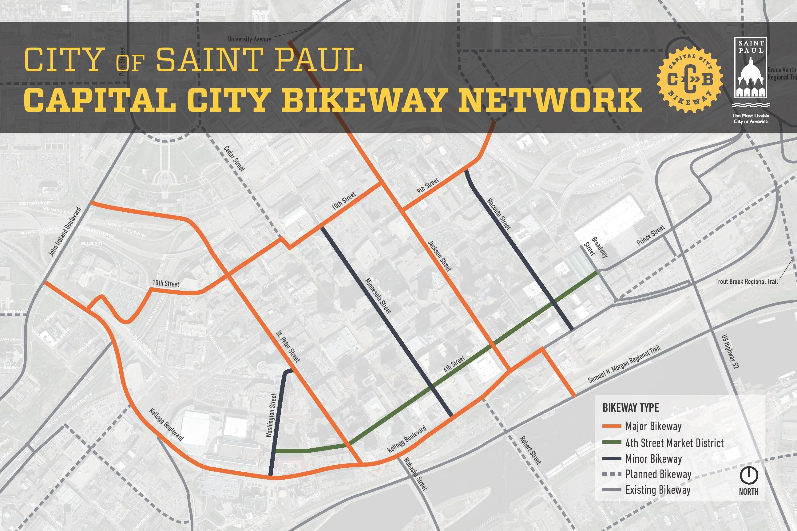 Capital City Bikeway Route