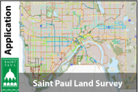 Saint Paul, Minnesota Land Survey Map