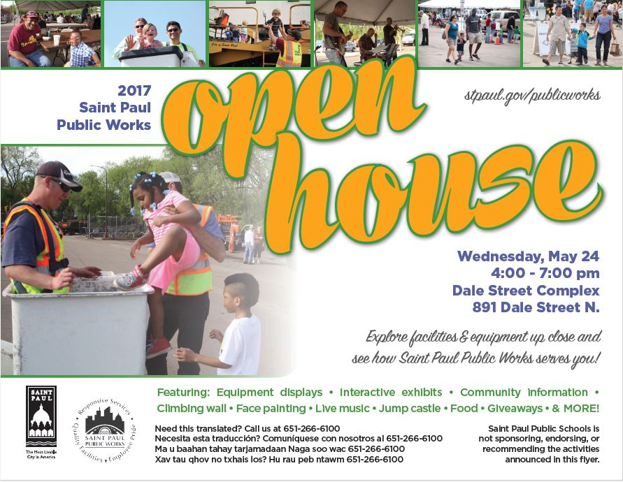 Open House Flyer 2017 | Saint Paul, Minnesota