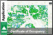 Graphic of a map showing Certificate of Occupancy information