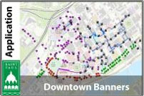 Map of downtown banner locations