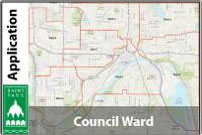 A map of Saint Paul council wards
