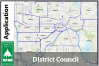 A map of Saint Paul district councils