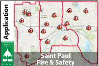 A map of Saint Paul fire stations