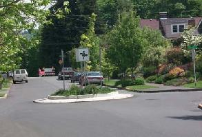 Traffic Calming example - Traffic Circle