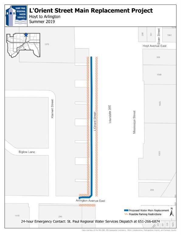 L'orient Street Map