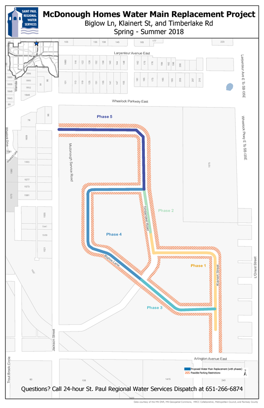 McDonough Homes Water Main Replacement map