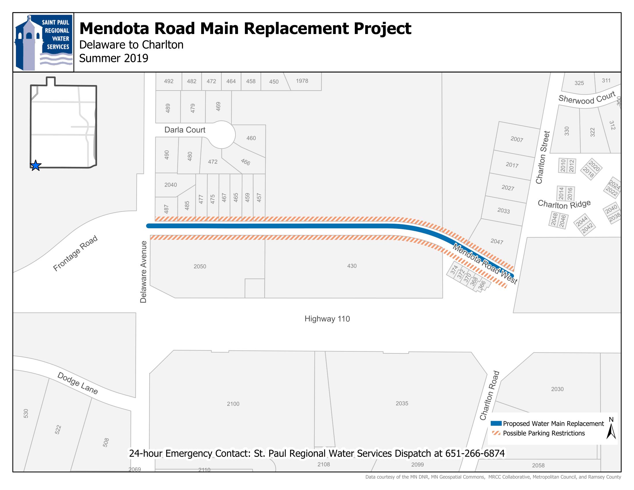 Mendota Project Map Image