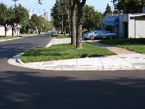 Traffic Calming example - Bump Out