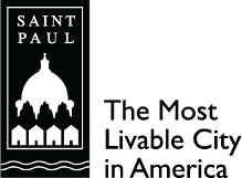 City of Saint Paul logo (black with tagline)