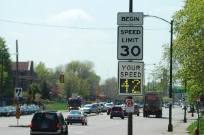 Traffic Calming example - Speed Limit Monitor