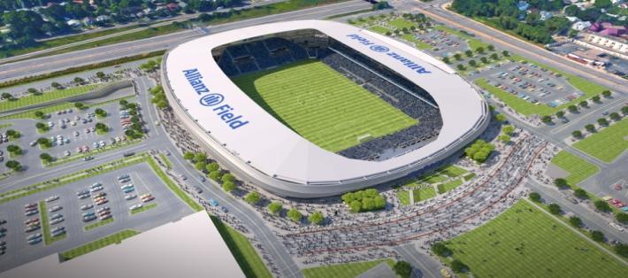 Allianz Field MN United Soccer Team