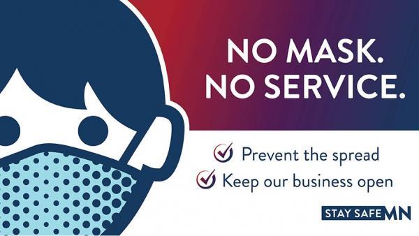 No Mask, No Service graphic