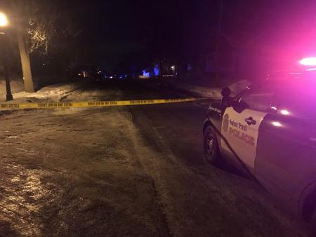Scene of shooting death near intersection of Kennard Street North and Ross Avenue