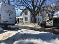 Homicide scene on the 600 block of Elfelt Street