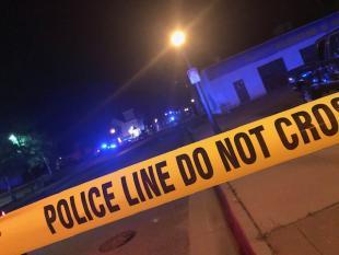 Homicide scene outside of church on September 18, 2019