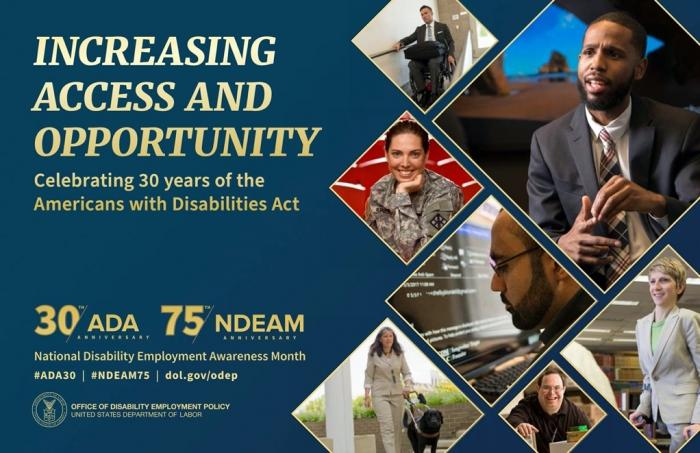 National Disability Employment Awareness Month, Increasing Access and Opportunity Image