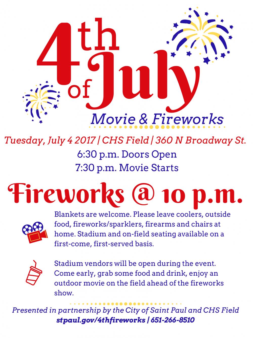 Fireworks 2017 flyer