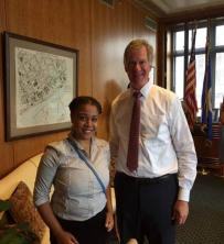 Mayor and Mikayla Smith
