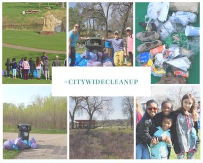 Citywide Spring Cleanup Photo Collage