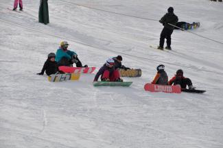 Snowboarders at Como Park Ski Center